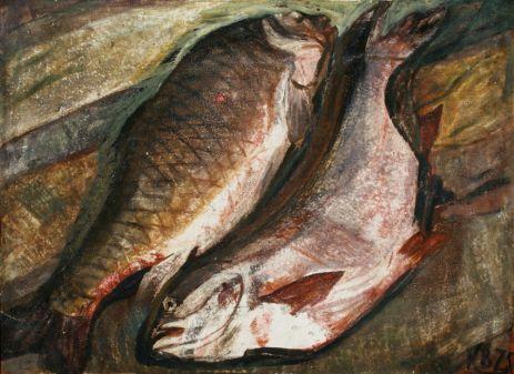 Натюрморт с рыбой.
