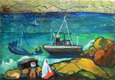 Пароходы у берега.